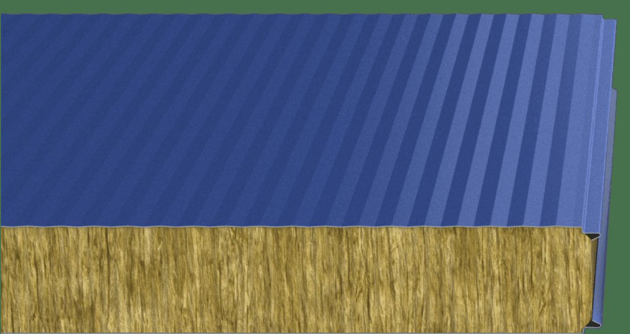 Стеновые сэндвич-панели с минеральной ватой